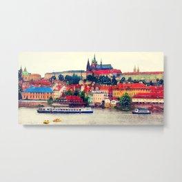 Prague Hradczany Metal Print