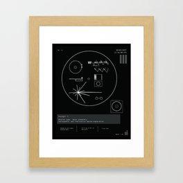 Voyager 1 - Black Framed Art Print