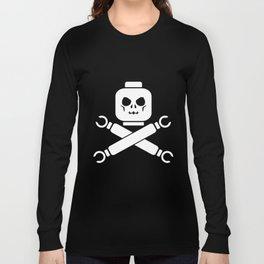 Skull Crossbones Jolly Roger Pirate Retro Gamer Nerd Toy Men's Nerd t-shirts Long Sleeve T-shirt