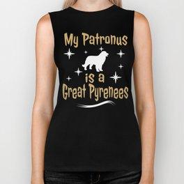 My Patronus Is A Great Pyrenees Dog  Biker Tank
