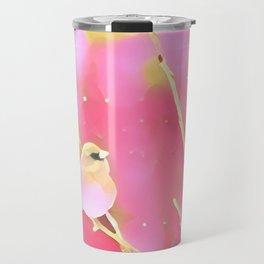 Junco Pink Yellow by CheyAnne Sexton Travel Mug