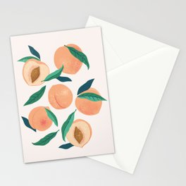 Still Nature Peaches Stationery Cards