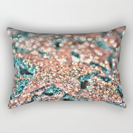 Starry Wishes and Bokeh Dreams...Coral Sea Rectangular Pillow