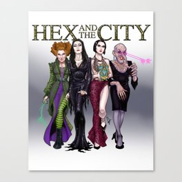 Hex and the City Canvas Print