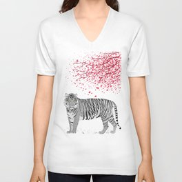 Cherry tree Tiger Unisex V-Neck