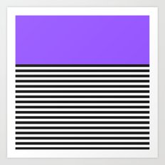 STRIPE COLORBLOCK {PURPLE} Art Print