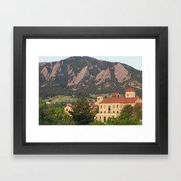 University of Colorado - Boulder Framed Art Print