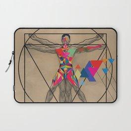 Vitruvian Man and a Burst of Color Laptop Sleeve