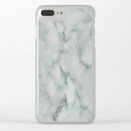 Ariana verde - smoky teal marble Clear iPhone Case