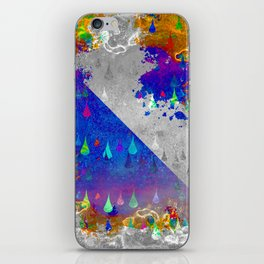 Abstract Colorful Rain Drops Design iPhone Skin