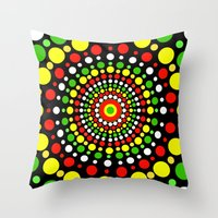rasta Throw Pillows featuring Rasta by Liqrush