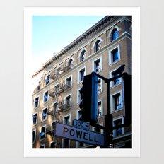 Powell St. San Fran. Art Print