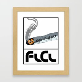 FLCL Never Knows Best Cigarette Framed Art Print