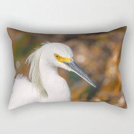 Snowy Egret Rectangular Pillow
