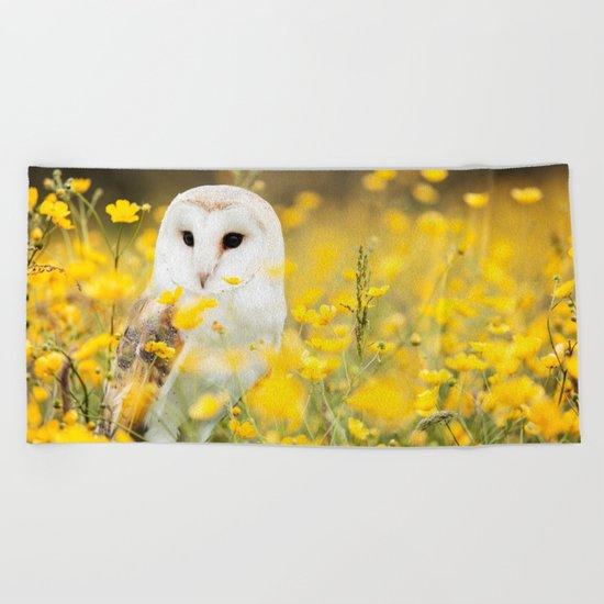 Australian Barn Owl (Tyto Alba) Beach Towel