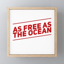 I'm Free Framed Mini Art Print