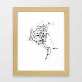 Joel The Vampire Bat Framed Art Print