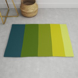 Colorful Color Block Pattern In The Pond Rug