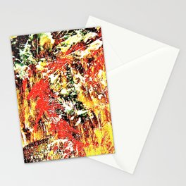 Golden Autumn Abstract Stationery Cards