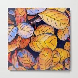 Golden Autumn Leaves Metal Print