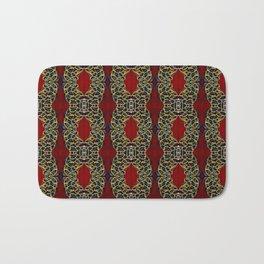 Gorgeous beadwork inspired print Bath Mat