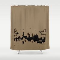 florence Shower Curtains featuring Florence by Irene Fratto Due