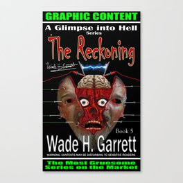 """""""The Reckoning"""" book cover art with signature Canvas Print"""