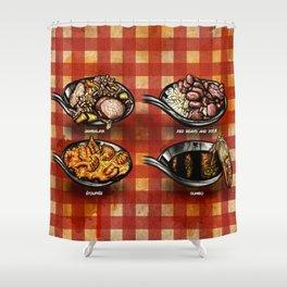 Cajun Table Shower Curtain