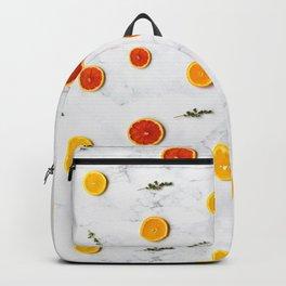 orange slices pattern Backpack