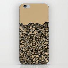 Black Lotus Lace Illustration Pattern iPhone & iPod Skin