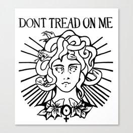 Medusa: Don't Tread On Me (White) Canvas Print