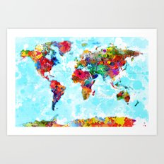 World Map - 2 Art Print