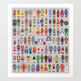 Pixel Masters Art Print
