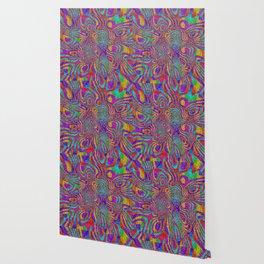Psychedelic Rainbow Glitter Bomb Wallpaper