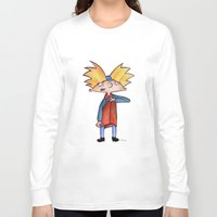 arnold Long Sleeve T-shirts featuring Hey Arnold!  by Lozza.