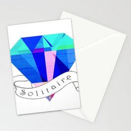 Solitaire Diamond Stationery Cards