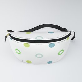 Blue and Green Dots of Joy Fanny Pack