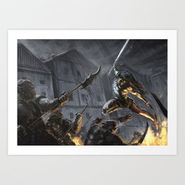 Swords Storm Art Print