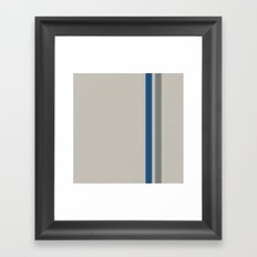Blue & Grey Stripe Framed Art Print