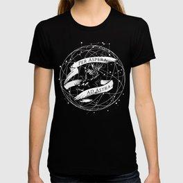 Per Aspera Ad Astra (White) T-shirt