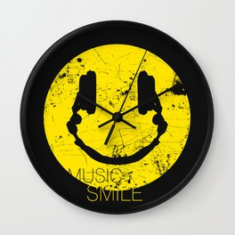 Music Smile Wall Clock