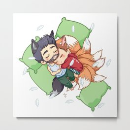 Bonus Sleepy Sterek Spin-Off Metal Print