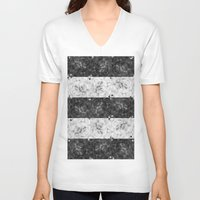 bubbles V-neck T-shirts featuring Bubbles by Ana Montaño