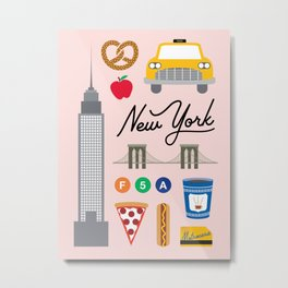 New York City Art Print Metal Print