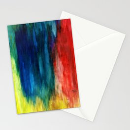 Spring Yeah! - Abstract paint 1 Stationery Cards