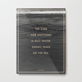 Salt Water Metal Print
