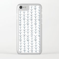 Twigs and branches freeform gray Clear iPhone Case