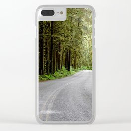 Rainforest Road Clear iPhone Case