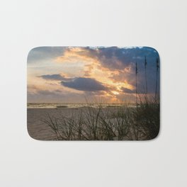 Anna Maria Island Cloudy Beach Sunset 2 Coastal Landscape Photo Bath Mat