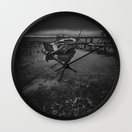 On the wrong side of the lake 8 Wall Clock
